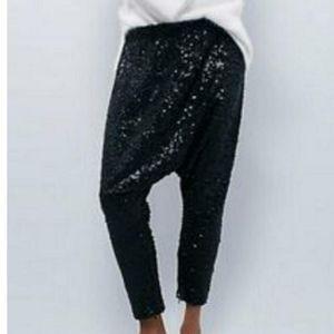 One Teaspoon Pants - One Teaspoon Angel Sequin Harem Pants